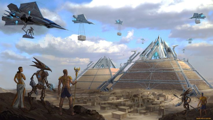 pyramids-planets-in-space